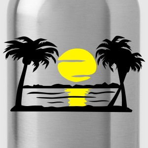 Summer Dream - beach, sun, palm trees - Water Bottle