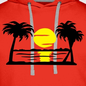 Summer Dream - beach, sun, palm trees - Men's Premium Hoodie