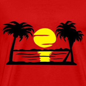 Summer Dream - beach, sun, palm trees - Men's Premium T-Shirt