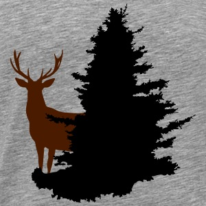 Cerf, forêt, Deer in the woods - T-shirt Premium Homme