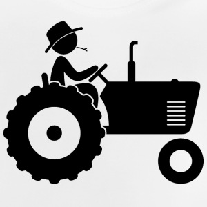 Farmer on tractor Long Sleeve Shirts - Baby T-Shirt