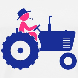 Farmer on tractor Sports wear - Men's Premium T-Shirt