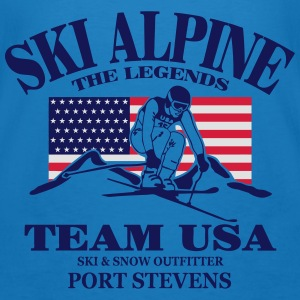 ski - alpine - apres - usa Hoodies & Sweatshirts - Men's Organic T-shirt