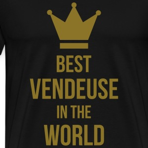Best Vendeuse in the world Tabliers - T-shirt Premium Homme