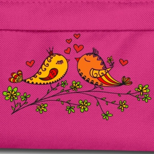 Birdie Love, Heart, Bird, Valentine`s Day T-Shirts - Kids' Backpack