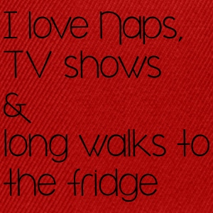 naps, tv shows and long walsk tot the fridge Bags & Backpacks - Snapback Cap