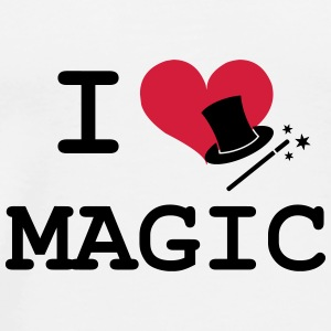 I Love Magic  Caps & Hats - Men's Premium T-Shirt