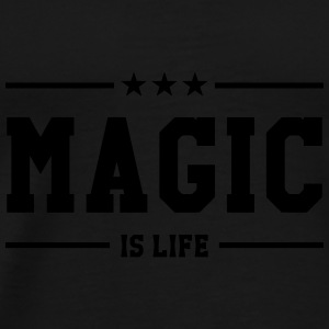 Magic is life Caps & Hats - Men's Premium T-Shirt