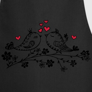 Birdie Love, Heart, Bird, Spring, Summer, Kiss Hoodies & Sweatshirts - Cooking Apron