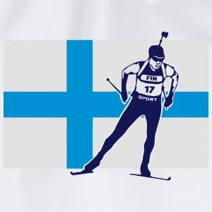 Biathlon - cross country skiing - skiing - ski Long sleeve shirts - Drawstring Bag