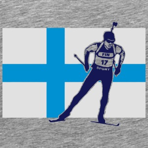 Biathlon - cross country skiing  - Finland Manches longues - T-shirt Premium Homme