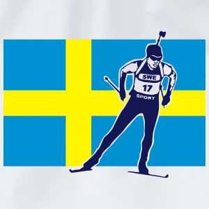 Biathlon - cross country skiing - skiing - ski T-Shirts - Drawstring Bag