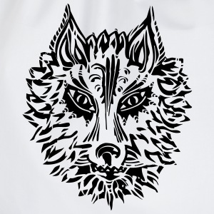 Wolf, symbol of loyalty and strength, Animal Totem - Drawstring Bag