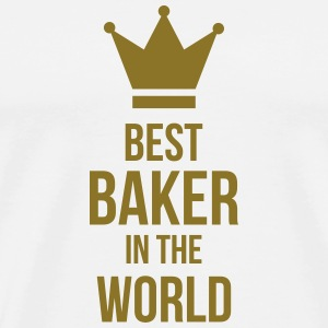 Best Baker in the World Kopper & tilbehør - Premium T-skjorte for menn