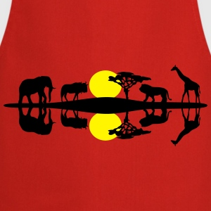 Wildlife - lion, elephant, giraffe, gnu - Cooking Apron