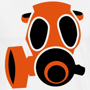 deadly orange biohazard gas mask  Aprons - Men's Premium T-Shirt
