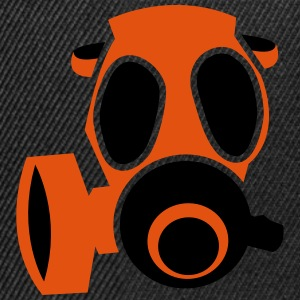 deadly orange biohazard gas mask Tops - Snapback Cap