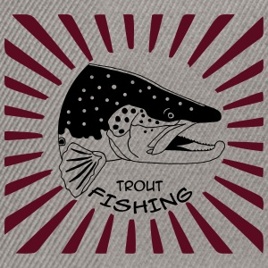 trout fishing Pullover & Hoodies - Snapback Cap