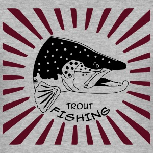 trout fishing Pullover & Hoodies - Männer Slim Fit T-Shirt