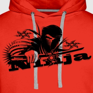 Ninja fighter with sword Shirts - Men's Premium Hoodie
