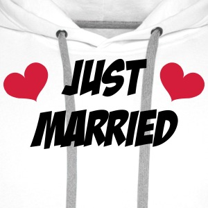 Just Married - Wedding Tabliers - Sweat-shirt à capuche Premium pour hommes