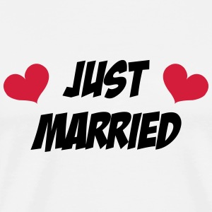 Just Married - Wedding  Aprons - Men's Premium T-Shirt