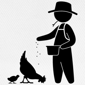 Farmer feeding the chickens Shirts - Baseball Cap