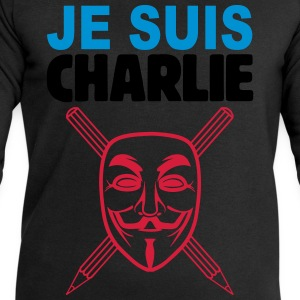 je suis charlie anonymous Tee shirts - Sweat-shirt Homme Stanley & Stella