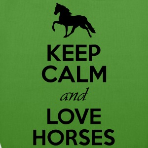Keep Calm And Love Horses Hoodies - EarthPositive Tote Bag