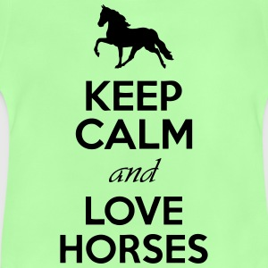 Keep Calm And Love Horses Hoodies - Baby T-Shirt