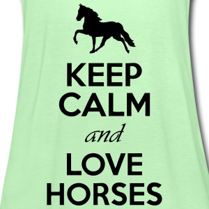Keep Calm And Love Horses Hoodies - Women's Tank Top by Bella