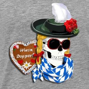 Wiesn Bopperl Topper - Premium T-skjorte for menn