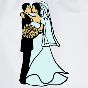 Marriage happy marriage love T-Shirts - Drawstring Bag