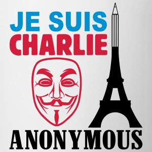je suis charlie anonymous Tee shirts - Tasse