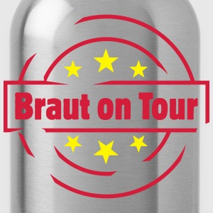stempel braut on tour Tops - Trinkflasche