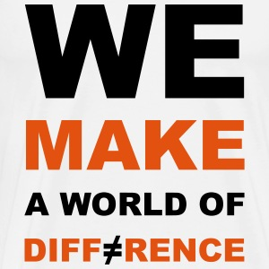 WE MAKE A WORLD OF DIFFERENCE 2 Manches longues - T-shirt Premium Homme