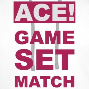 ACE! GAME SET MATCH T-Shirts - Men's Premium Hoodie