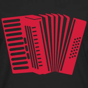 accordeon T-shirts - Mannen Premium shirt met lange mouwen