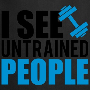 I see untrained people Tops - Delantal de cocina
