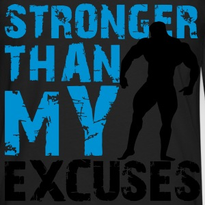 Stronger than my excuses T-skjorter - Premium langermet T-skjorte for menn