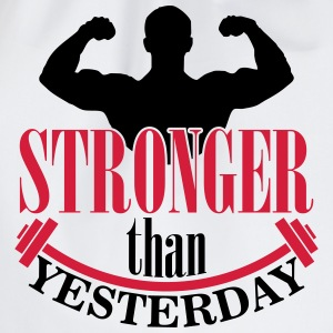 Stronger than yesterday Tank Tops - Sportstaske