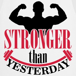 Stronger than yesterday Manga larga - Delantal de cocina