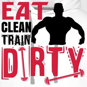 Eat clean, train dirty T-skjorter - Premium hettegenser for menn