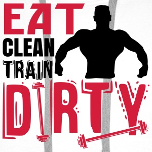 Eat clean, train dirty Bags & Backpacks - Men's Premium Hoodie