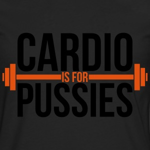 Cardio is for pussies T-shirts - Herre premium T-shirt med lange ærmer