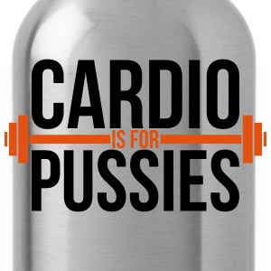 Cardio is for pussies T-Shirts - Water Bottle