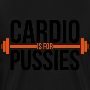 Cardio is for pussies Sweaters - Mannen Premium T-shirt