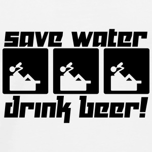 Save Water Drink Beer! (Vector) - Men's Premium T-Shirt