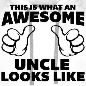 Awesome Uncle Looks Like T-Shirts - Men's Premium Hoodie