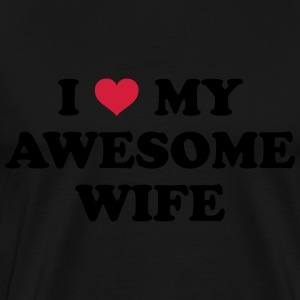 I Love My Wife Gensere - Premium T-skjorte for menn